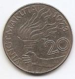 Zair 20 Makuta 1973 -  Mobutu Sese Seko, 31 mm, KM-8, Africa