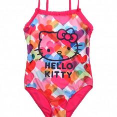 Costum de baie intreg pentru fete , Hello Kitty , fucsia , 6 ani/116cm, Multicolor, 5-6 ani