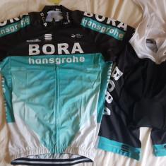 Echipament ciclism Bora Hansgrohe 2018 set pantaloni bretele tricou costum Nou, Tricouri