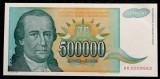 IUGOSLAVIA 500.000 500000 DINARA 1993 serie mica de inceput UNC necirculata  **