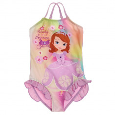 Costum de baie intreg pentru fete , Disney Sofia , mov , 2/4/5/6/8 ani, Fuchsia, 2-3 ani, 3-4 ani, 4-5 ani, 5-6 ani, 7-8 ani