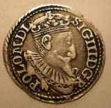 G.336 POLONIA SIGISMUND III VASA 3 GROSCHEN 1597 OLKUSZ ARGINT 2,3g, Europa