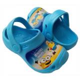 Papuci copii, crocs copii, Minioni, albastru, 24/25, 26/27, 28/29, 30/31 - Saboti copii