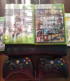 Xbox 360 + 2 manete +4 jocuri