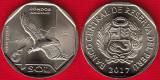 !!!  PERU  -  1 SOL  2017 ,  CONDORUL  ANZILOR  -  KM NEW - UNC