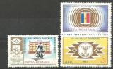 Romania 1983 - ZIUA MARCII POSTALE. POSTAS, serie cu vinieta MNH, F163, Transporturi, Nestampilat