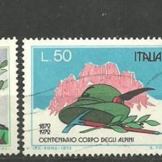 Italia 1972 - ARMATA, VANATORI DE MUNTE, serie stampilata A128, Stampilat