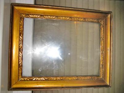 Rama veche aurie lemn anii 1900. Exterior 55/43 cm, interior 45/33 cm, r7 cm. foto