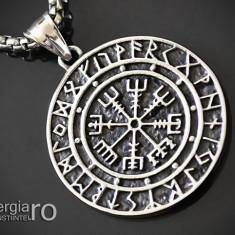 Pandant Amuleta Talisman Pandantiv Roata Norocului INOX - cod PND105