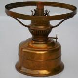 LAMPA VECHE PE PETROL / GAZ LAMPANT - KOSMOS BRENNER, ALAMA SI FIER, FUNCTIONALA