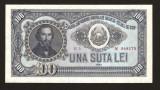 100 LEI  1952 SERIE ROSIE , PERFECT  UNC . RARA IN ACEASTA STARE . NECIRCULATA !