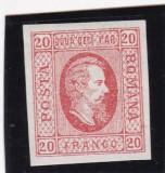 ROMANIA 1865  LP 17  A. I. CUZA  EFIGIA  DOMNITORULUI  IN OVAL POICON L.PASCANU, Nestampilat