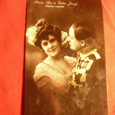 Ilustrata-Fotografie -Actori Maghiari -Petrass Lari si Gabor Josef circ.1909