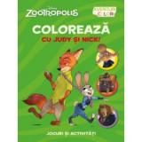 Zootropolis. Coloreaza cu Judy si Nick, litera