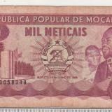 bnk bn Mozambic 1000 meticais 1986 circulata
