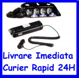 Lampa Flash LED Parbriz stroboscopica PROFESIONALA 12V Rosu - Albastru A060317-2