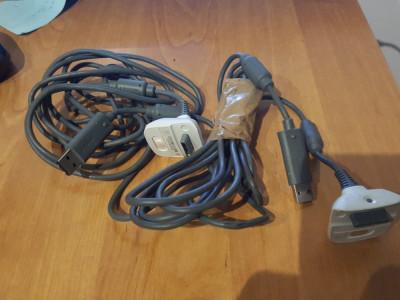 Cablu incarcare maneta controller joystic XBOX360 original Microsoft xbox 360 foto