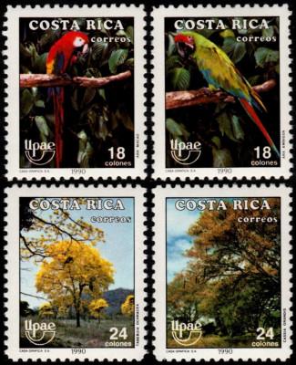 COSTA RICA 1990 UPAEP FAUNA PASARI foto