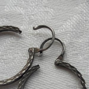 CERCEI argint Rotunzi SUPERBI vintage VECHI patina minunata