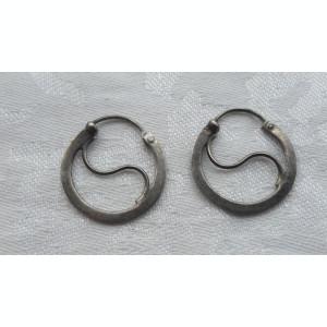 CERCEI argint ROTUNZI patina minunata VECHI deosebiti DE EFECT