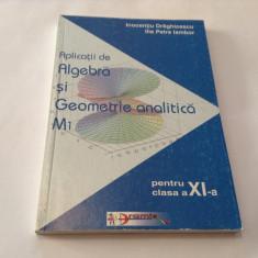 Aplicatii de algebra si geometrie analitica M1 I DRAGHICESCU,ILIE IAMBOR,RF13/1