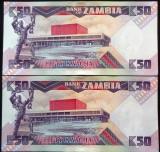 Lot/Set Bancnote 50 KWACHA - ZAMBIA: SERII CONSECUTIVE+NECIRCULATE   *cod 622