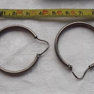 CERCEI argint Rotunzi Mari SUPERBI vintage VECHI clasici Patina Minunata