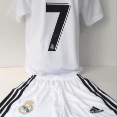 Echipament  fotbal pentru copii Real Madrid Ronaldo alb clasic