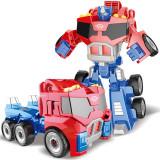 Robot de jucarie transformabil in camion, Transformers Optimus, 2-4 ani, Plastic, Baiat