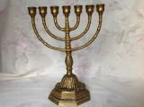 Veche menorah din bronz masiv