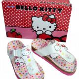 Sandale copii cu brant anatomic , Hello Kitty , 25,26,27,28,29,31,32,33,34,35,36, Fete, Alb
