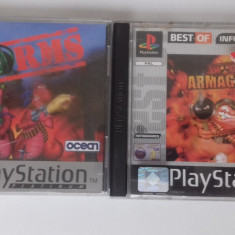 LOT 2 Jocuri -  Worms  - PS 1 [Second hand], Strategie