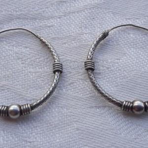 CERCEI argint TRIBALI rotunzi MARI vintage VECHI de efect Patina Minunata