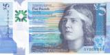 Bancnota Scotia ( Royal Bank ) 5 Pounds 2016 - PNew aUNC++/ UNC ( polimer )