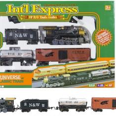 Pista de tren cu baterii International Express