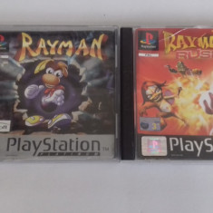 LOT 2 Jocuri -  Rayman + Rayman Rush   - PS 1 [Second hand], Actiune