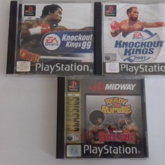 LOT 3 Jocuri -  Knockout Kings + Ready to rumble - PS 1 [Second hand], Sporturi