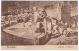 #2206- Romania, Marosujvar, Ocna Mures c.p. necirculata: Taierea sarii in mina, Fotografie