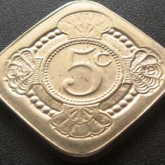 Moneda COMEMORATIVA RARA 5 CENTI - OLANDA 1948 - 1980  *cod 3071