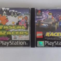 LOT 2 Jocuri -  Rascal  Racers + Lego Racers   - PS 1 [Second hand], Curse auto-moto