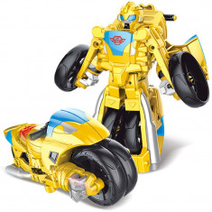 Robot de jucarie transformabil in motocicleta, Transformers Bumblebee, 2-4 ani, Plastic, Baiat