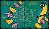MEXIC 1991 UPAEP FAUNA PASARI, Nestampilat