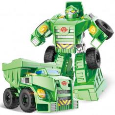 Robot de jucarie transformabil in camion buldozer, Transformers Buldozer, 2-4 ani, Plastic, Baiat
