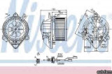 Ventilator aeroterma interior habitaclu CITRON BERLINGO (MF) Producator NISSENS 87053