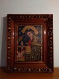 RARA Icoana veche romaneasca - Maica Domnului, indurerata, cca 1940