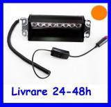Cumpara ieftin Lampa stroboscopica Flash  8W parbriz  Portocalie AL-TCT-1214