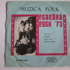 Vinil EP 7'' Flacara Folk '73-Electrecord 1974,stare buna