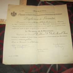 diploma de licenta rara originala 1945 sectiunea economia publica caiet diplome