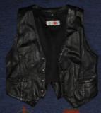 Vesta de piele moto/motor/biker,marime mica,38,motociclist,chopper