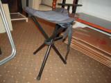 Scaun pentru pescuit/alte destinatii, cadru teava metalica, albastru 25 cm.